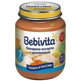 """Bebivita пюре """"Овощное ассорти с цыпленком"""" с 7 месяцев"""