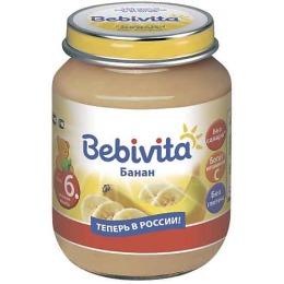 "Bebivita пюре ""Банан"" с 6 месяцев"