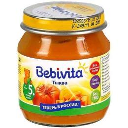 """Bebivita пюре """"Тыква"""" с 4 месяцев"""