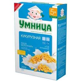 """Умница каша молочная """"Кукурузная"""" с 5 месяцев"""