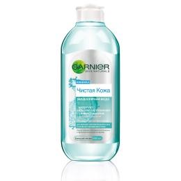"""Garnier мицеллярная вода, очищающее средство для лица """"Чистая кожа"""" для жирной чувствительной кожи, 400 мл"""