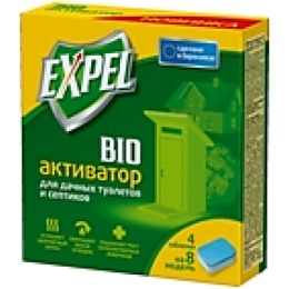 Expel биоактиватор для дачных туалетов и септиков, таблетки, 4 шт