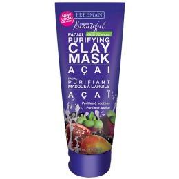 Freeman маска для лица очищающая, глиняная с экстрактом ягоды асаи, 150 мл
