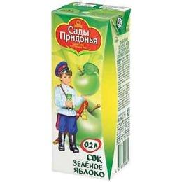 """Сады Придонья сок """"Яблочный из зеленых яблок"""" осветленный, с 4 месяцев"""