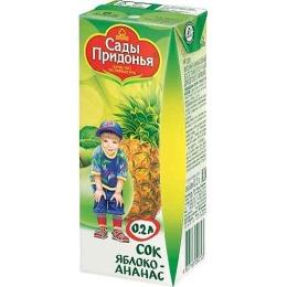 """Сады Придонья сок """"Яблоко и ананас"""" с 6 месяцев"""