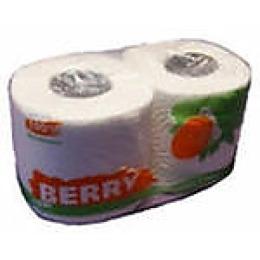 Berry бумажное полотенце 1-слойное на перфорированной втулке