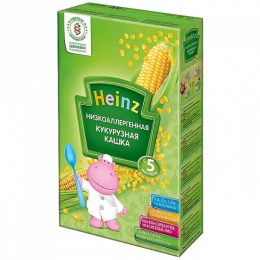 "Heinz кашка низкоаллергенная ""Кукурузная""  безмолочная"