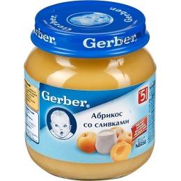 """Gerber пюре фруктовое """"Абрикос и сливки"""""""