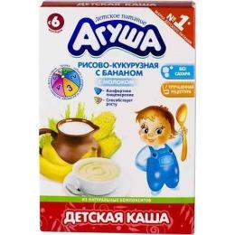 "Агуша каша сухая молочная ""Рис, кукуруза, банан"", 200 г"