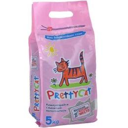 """Pretty Cat наполнитель для кошачьих туалетов """"Euro mix"""" бентонитовый, комкующийся, 5 кг"""