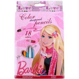 Barbie карандаши, 18 цветов