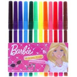 Barbie фломастеры цветные, 12 шт