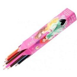 Princessa карандаши цветные, заточенные, 6 шт