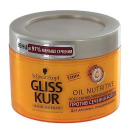 Gliss Kur маска восстанавливающая против сечения волос, 200 мл
