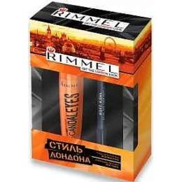 "Rimmel набор тушь для ресниц  ""Volume flash scandaleyes"" № 001 + контурный карандаш для век ""special eyes precision"" № 161"