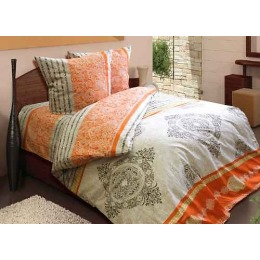 """Блаkiт комплект постельного белья """"Верона оранжевая """" 1,5 спальное, наволочки 50х70 см"""