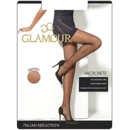 """Glamour колготки тонкие """"Microrete"""" nero"""