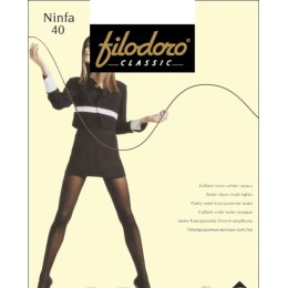 """Filodoro колготки """"Ninfa 40"""" nero"""