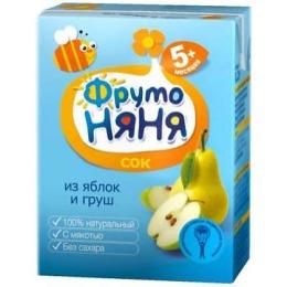 """Фруто Няня сок """"Яблоко, груша"""" с 5 месяцев"""