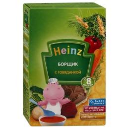 Heinz супчик борщик с говядиной, с 8 месяцев