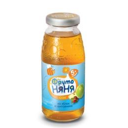 """Фруто Няня сок """"Яблоко и шиповник"""" осветленный с 5 месяцев"""