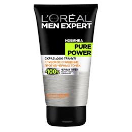 "L'Oreal скраб для лица ""Men Expert. Pure Power х2000 гранул"" против черных точек"