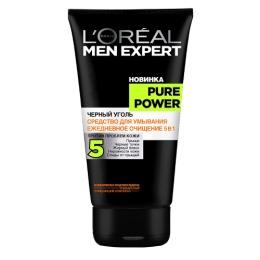 """L'Oreal средство для умывания """"Men Expert. Pure Power. Черный уголь"""", 150 мл"""