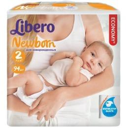 "Libero подгузники ""Newborn"" 3-6 кг, 94 шт"