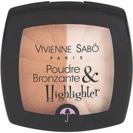 Vivienne Sabo бронзирующая пудра с  хайлайтером, 11 г
