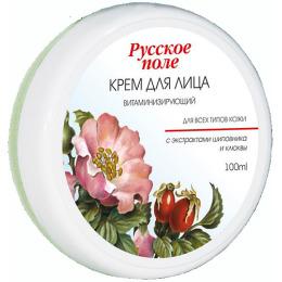"""Русское поле крем для лица """"Витаминизирующий"""" с экстрактами шиповника и клюквы для всех типов кожи"""