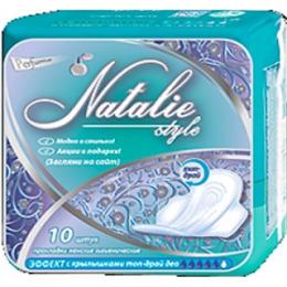 """Натали прокладки женские впитывающие """"Style Ultra Top Dry Deo"""" с крылышкам"""