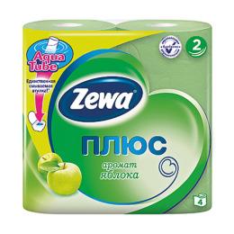 """Zewa бумага туалетная """"Плюс"""" 2 слойная с ароматом яблока"""