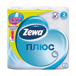 """Zewa бумага туалетная """"Плюс"""" 2 слойнаятон белая"""