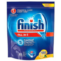 "finish таблетки для посудомоечных машин ""All in1. Shine&Protect"" Лимон, 65 шт"