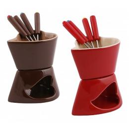 Smakfest набор фондю 6 предметов керамическая чашка 10.5 х 9.2 х 12.8 см 4 вилочки 12.5 см нжс с пластиковой ручкой