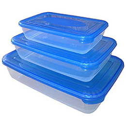 """Plast Team набор емкостей для хранения продуктов """"Рattern"""" прямоугольных 3 шт"""