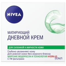 """Nivea увлажняющий дневной крем """"Матовое совершенство"""" для жирной и склонной к жирности кожи, 50 мл"""