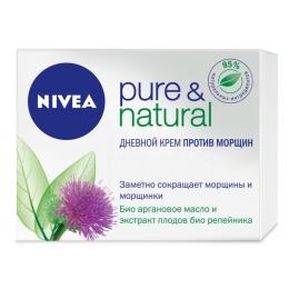 "Nivea Крем дневной ""PURE&NATURAL "" против морщин, 50мл"
