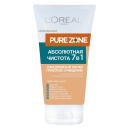 "L'Oreal скраб для лица ""Dermo-Expertise, Pure Zone"" 7в1"