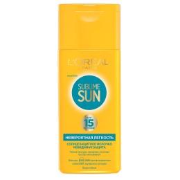 "L'Oreal легкое солнцезащитное молочко ""Sublim sun"", сзф 15, 200 мл"