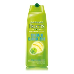 """Garnier шампунь """"Fructis. Сила и блеск"""" 2 в 1 для нормальных волос, 250 мл"""