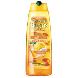 """Garnier шампунь """"Fructis. Сила витаминов, Увлажнение"""", укрепляющий, для нормальных волос, склонных к сухости, 250 мл"""
