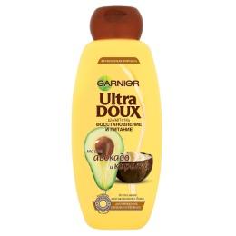 """Garnier шампунь """"Ultra Doux. Восстановление и питание"""" с карите и авокадо для поврежденных и секущихся волос"""