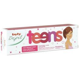 """Byly крем для депиляции тела """"Teens"""" для молодых девушек, с малиной, 100 мл"""