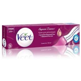 Veet крем для депиляции с ароматом бархатной розы и эфирными маслами, 180 мл