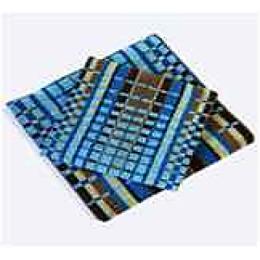 Ituma полотенце махровое, лазурно-коричневое пестротканное 50х100 см