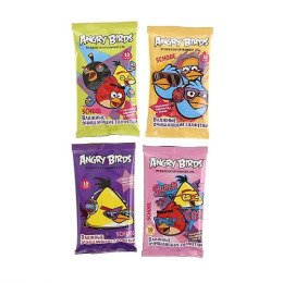 """Angry Birds cалфетки влажные """"Школьные"""""""