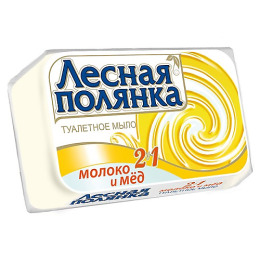 """Лесная Полянка мыло туалетное """"Молоко и Мед"""""""