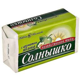 Невская Косметика мыло хозяйственное с ароматом яблока