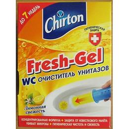 """Chirton гелевый очиститель """"Лимонная Свежесть"""" с аппликатором клеящийся для унитаза"""